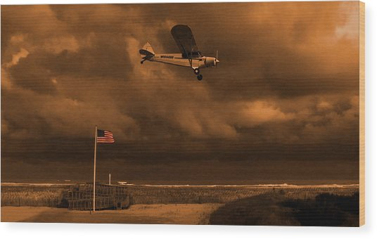 Good Night Wildwood Beach Wood Print