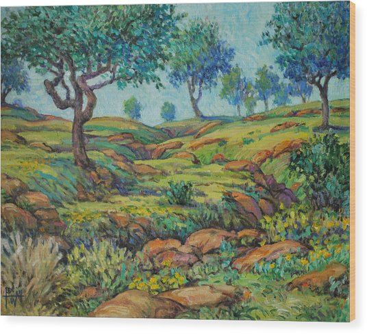 Good Pasture Poor Land For Farming Wood Print by Henry Potwin