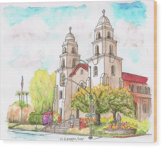Good Shepherd Catholic Church, Beverly Hills, California Wood Print