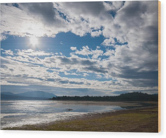 Goose Bay Sunrays Wood Print
