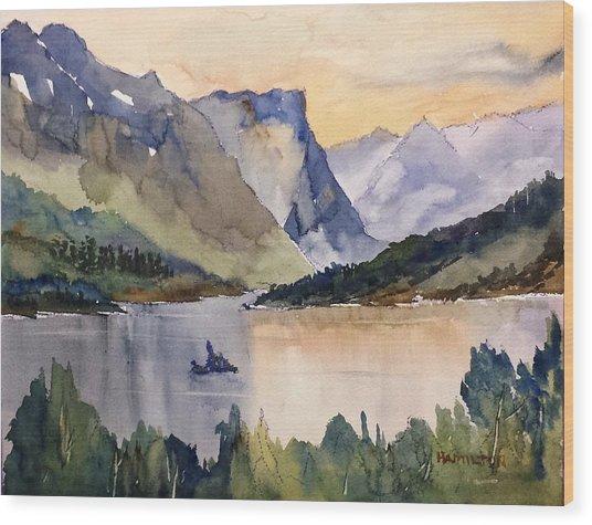Goose Island Glacier National  Park Wood Print