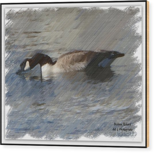 Goosey Lucy Painting Wood Print