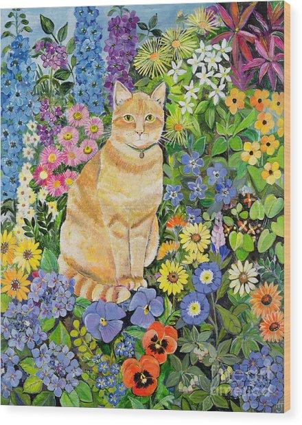 Gordon S Cat Wood Print