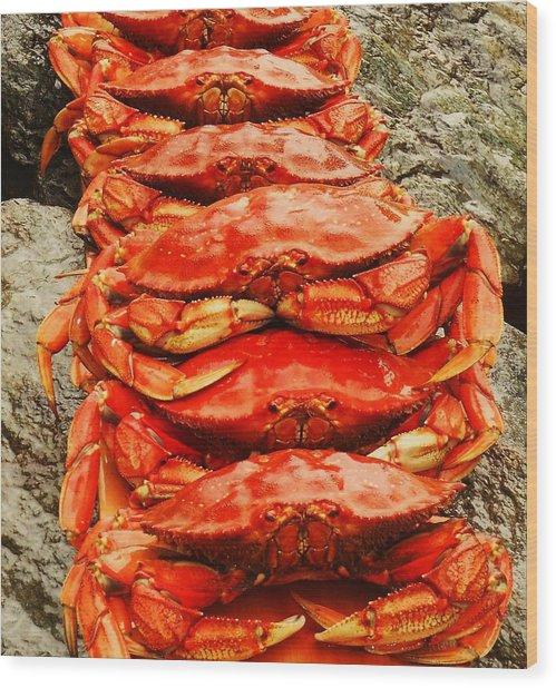 Got Crab? Wood Print