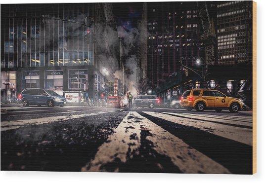 Gotham - Breaking Dawn Wood Print by Jackson Carvalho