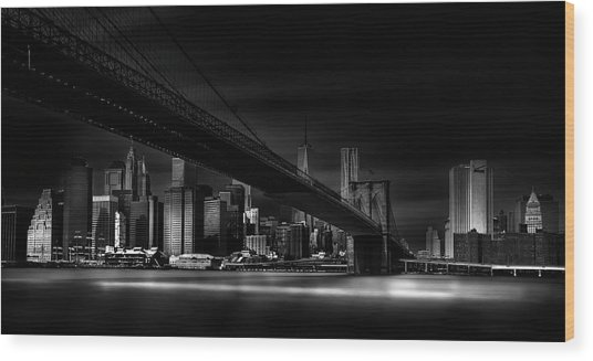 Gotham City. Wood Print