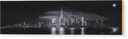 Gotham Wood Print by Jackson Carvalho