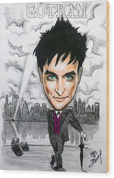 Gotham - Robin Taylor As Oswald Cobblepot The Penguin Wood Print