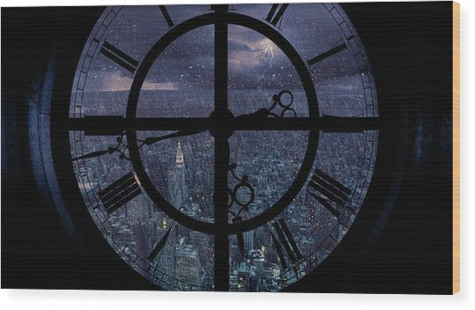 Gotham Viewed From Above Wood Print by Jackson Carvalho