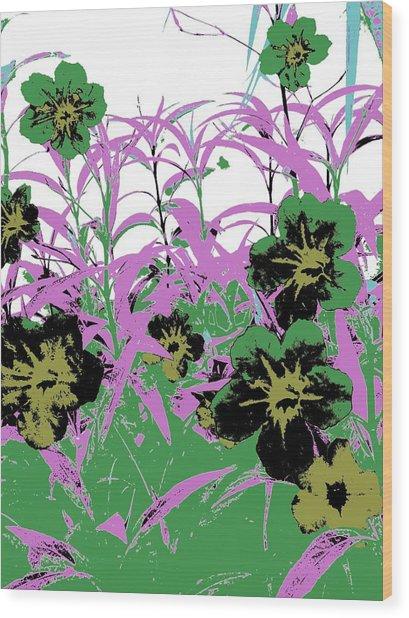 Gothic Garden Green Wood Print