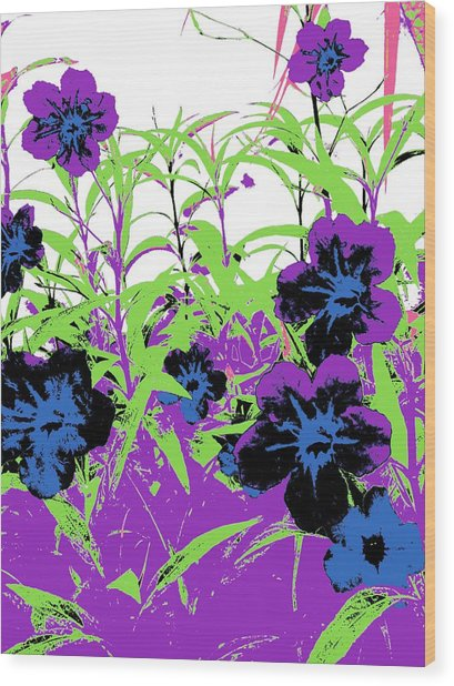 Gothic Garden Orchid Wood Print