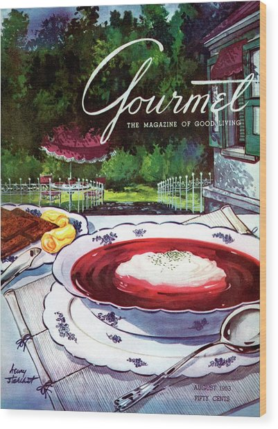 Gourmet Cover Featuring A Bowl Of Borsch Wood Print