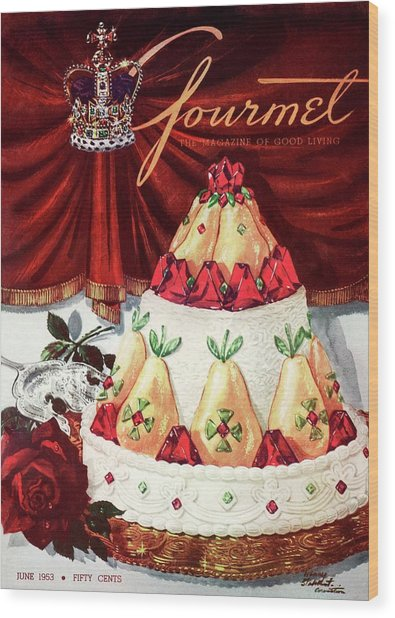 Gourmet Cover Featuring A Cake Wood Print