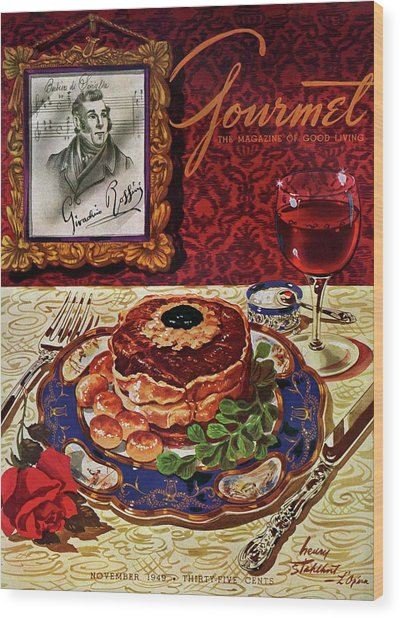 Gourmet Cover Featuring A Plate Of Tournedos Wood Print