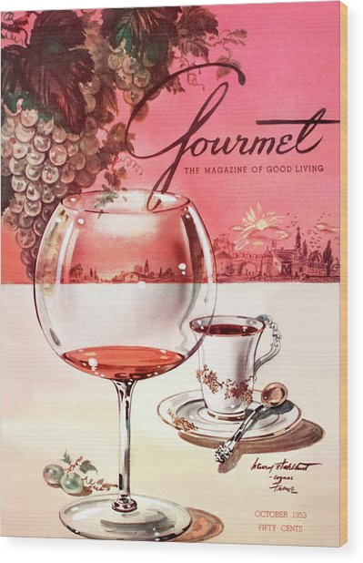 Gourmet Cover Illustration Of A Baccarat Balloon Wood Print