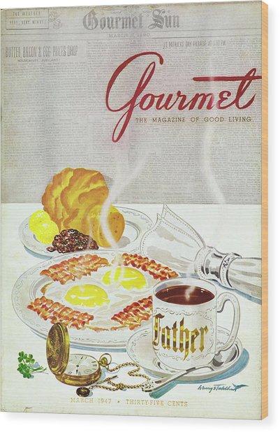Gourmet Cover Of Breakfast Wood Print