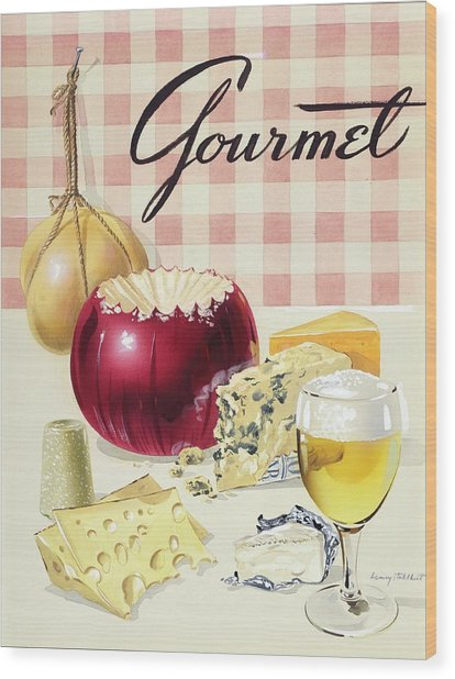 Gourmet Cover Of Cheeses Wood Print