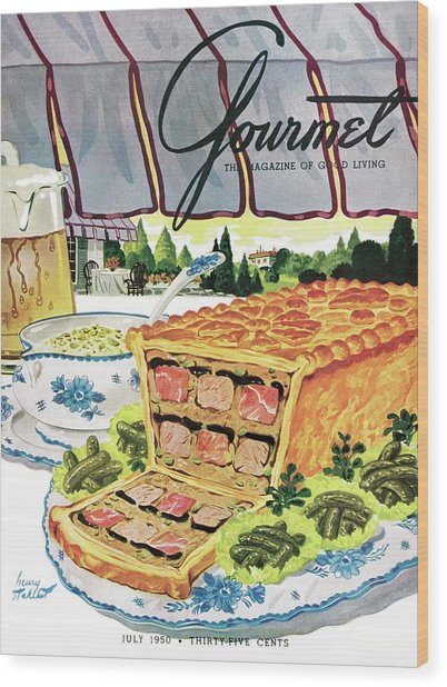 Gourmet Cover Of Pate En Croute Froid Wood Print