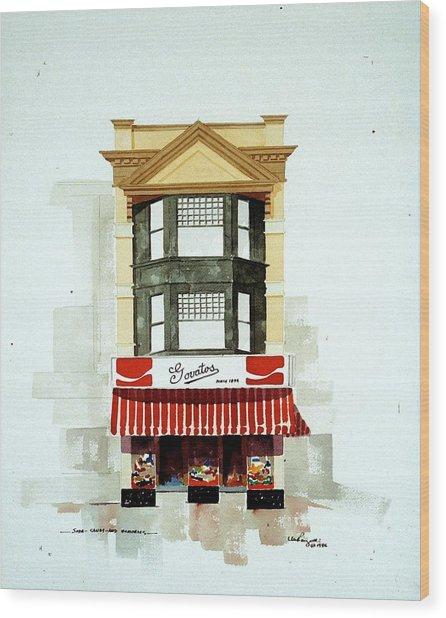 Govatos' Candy Store Wood Print