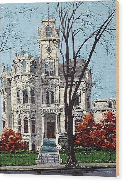 Governor's Mansion Wood Print by Paul Guyer