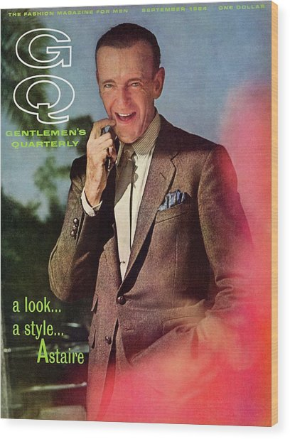 Gq Cover Featuring Fred Astaire Wood Print by Chadwick Hall