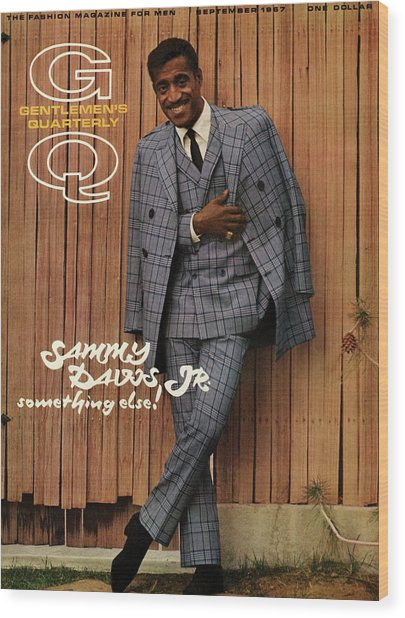 Gq Cover Featuring Sammy Davis Jr Wood Print by Milton Greene