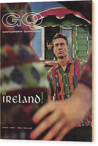 Gq Cover Of Model In Ireland Wood Print
