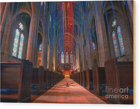 Grace Cathedral San Francisco Wood Print