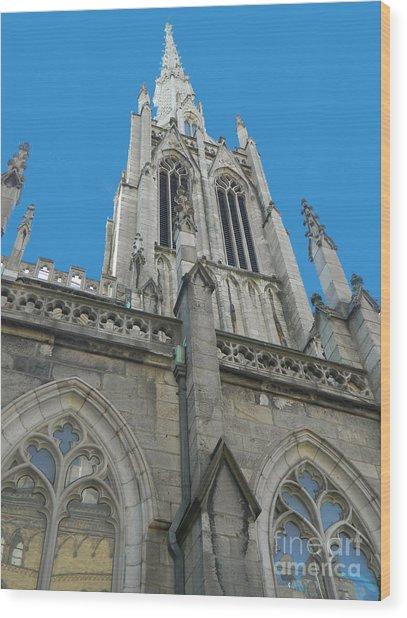 Grace Church Steeple Nyc Wood Print
