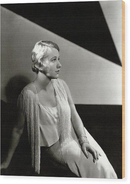 Grace Moore Wearing A Vest Wood Print