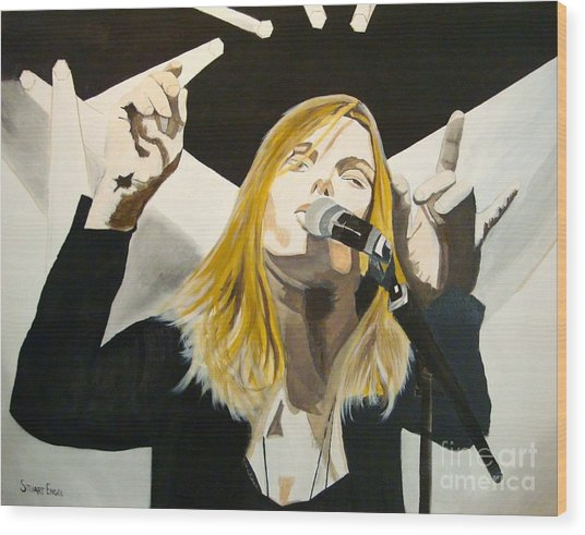 Grace Potter At The Peel Wood Print