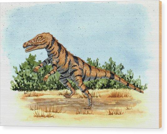 Gracilisuchus Prehistoric Crocodile Wood Print by Deagostini/uig