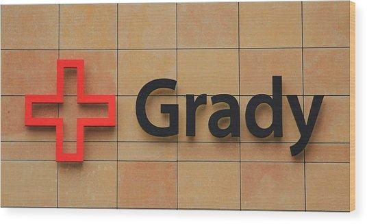 Grady Hospital Atlanta Georgia Art Wood Print