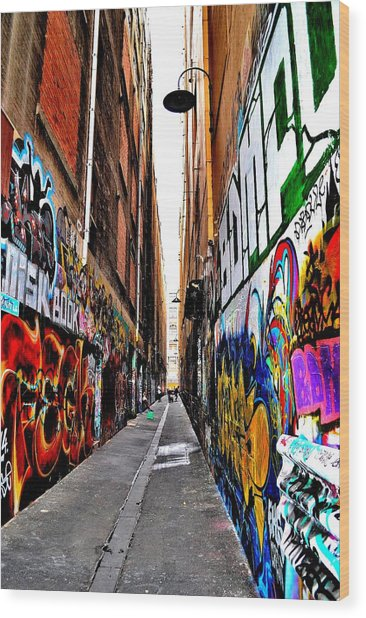 Graffiti Alley - Melbourne - Australia Wood Print