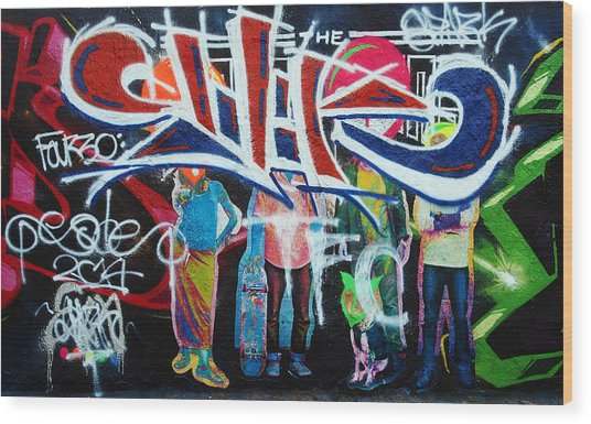 Graffiti Art Wood Print