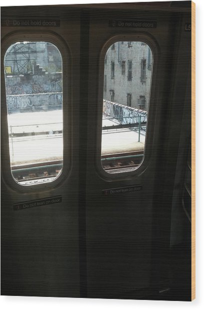 Graffiti From Subway Train Wood Print