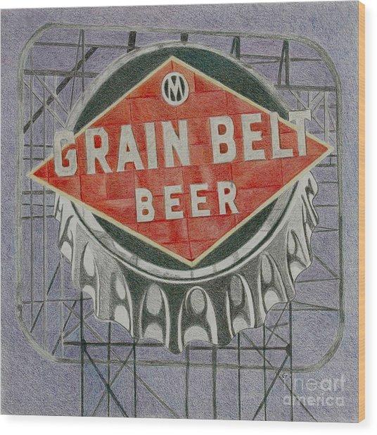 Grain Belt Beer Wood Print