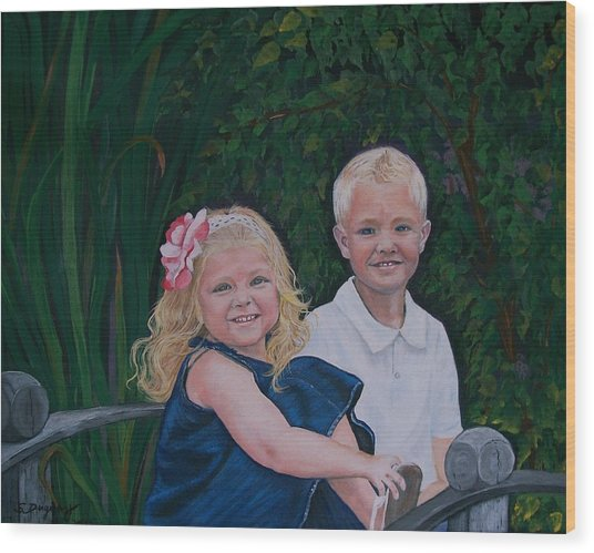 Grampa And Gramma's Joy  Wood Print