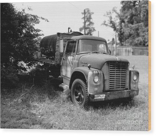 Grampa's Trucks Wood Print