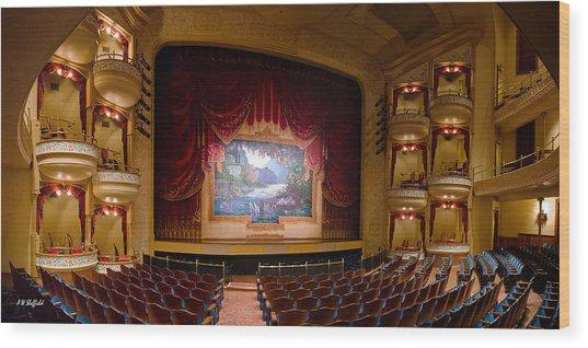 Grand 1894 Opera House - Orchestra Seating Wood Print