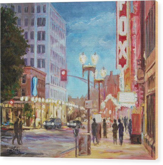 Grand Boulevard St.louis Wood Print