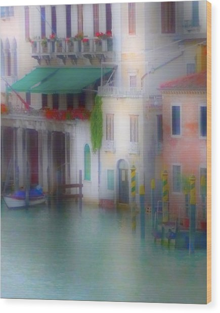 Wood Print featuring the photograph Grand Canal Sunrise by Gigi Ebert