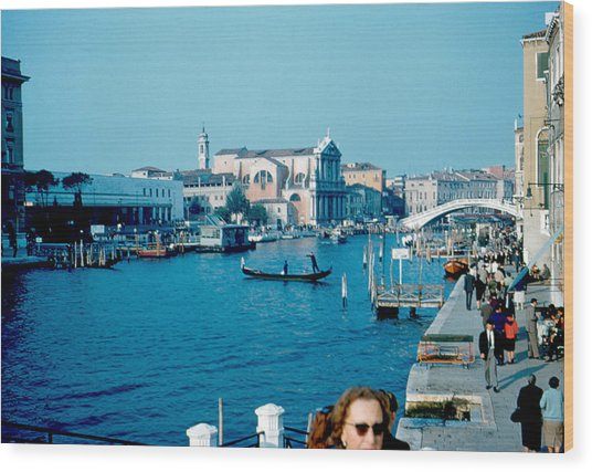 Grand Canal Venice 1961 Wood Print by Cumberland Warden