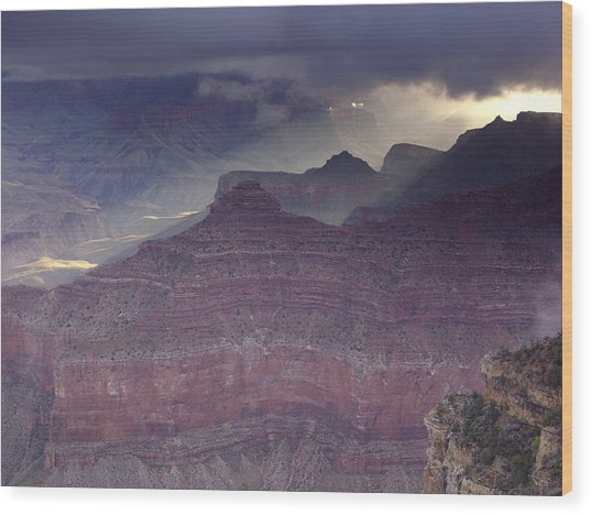 Grand Canyon - Clearing Storm Wood Print