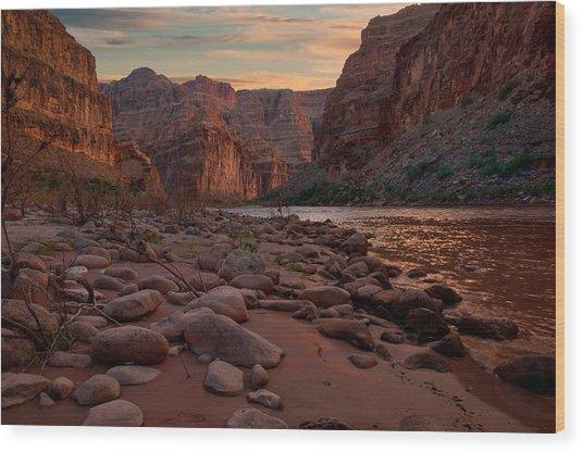 Grand Canyon Bottom Wood Print