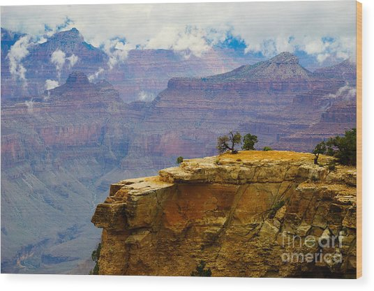 Grand Canyon Clearing Storm Wood Print