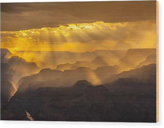 Grand Canyon Lightshow Wood Print