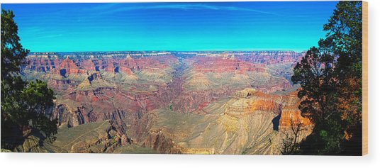 Grand Canyon Panorama Wood Print