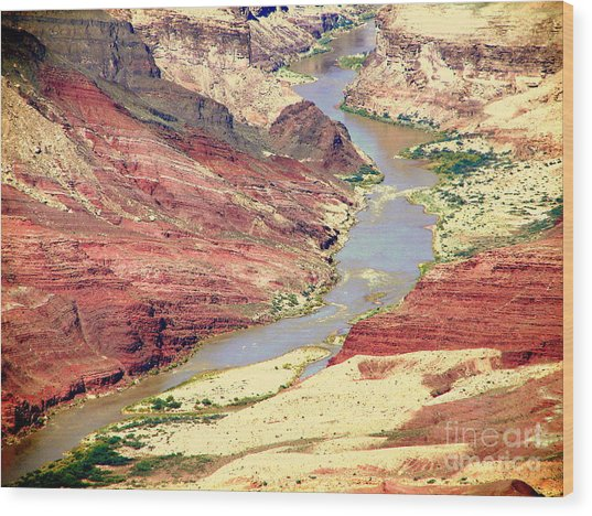 Grand Canyon River View Wood Print by John Potts