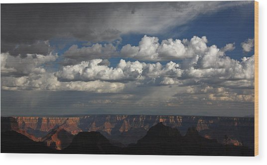 Grand Canyon Storm Wood Print